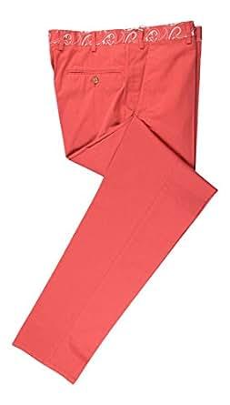 "Brioni Tigullio Amaranth Pink Cotton Casual Pants Size 58/42 Waist 41"""