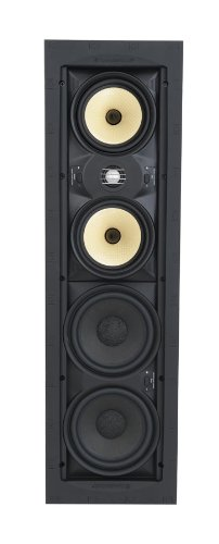 SpeakerCraft Profile AIM Cinema Five In-Wall Speaker with 1'' Pivoting Tweeter - Each (Black) by SpeakerCraft