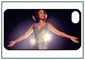 Whitney Elizabeth Houston American recording artist, actress, producer, and model iPhone 4 iPhone4 Black Designer Hard Case Cover Protector Bumper