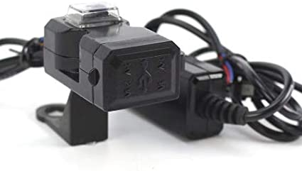 Universal Waterproof Motorcycle Phone Charger Dual USB 12V Power Supply Adapter