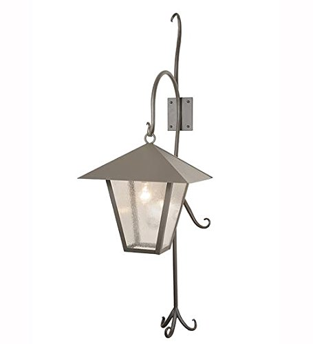 Meyda Tiffany 82331 Vine Lantern Shepherd's Hook Outdoor Wall Sconce, 18