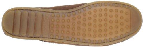 Minnetonka Feather Moc 462 - Zapatos de ante para mujer Marrón
