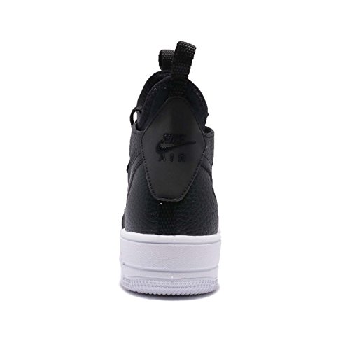 NIKE Womens Wmns Air Force 1 Ultraforce Mid, Black/Black-White, 8.5 US