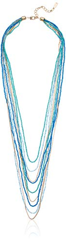 (Kenneth Cole Women's Turquoise Seed Bead Multi Row Layered Necklace, One Size)