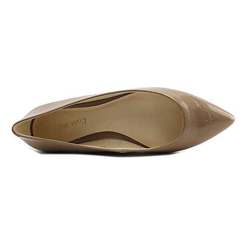 Nine West Womens Onlee Pointed Toe Slide Flats Natural Synthetic cnIlTb