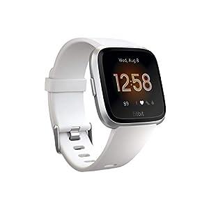 Fitbit-Versa-Lite-Edition-Smartwatch-with-SL-bands-WhiteSilver-Renewed