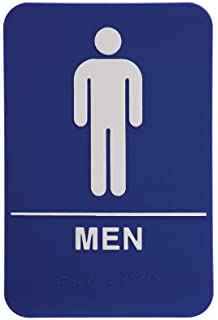 rock ridge men restroom sign bluewhite ada