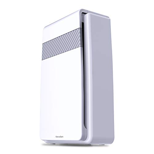 Kavalan 5-in-1 HEPA Air Purifier, Air Cleaner with True HEPA Air Filter & Negative Ion Generator, Dust Smokers Mold Germs Odor Allergy Air Eliminator – Auto Timer and Quiet Operation (Purifier Air 3000 Hepa)