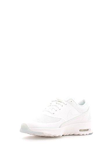 Nike Womens Wmns Air Max Thea Prm, Bianco / Bianco-blu Tinta, 9 Us