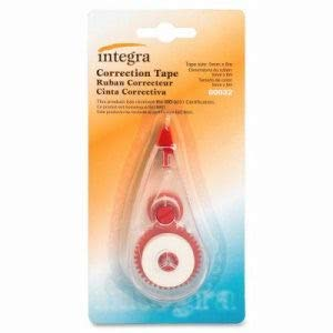 Integra Correction Tape, Nonrefillable, 5mmx6m, White (126 Units)