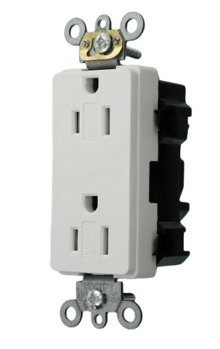 Leviton MT162 W Receptacle Commercial Self Grounding