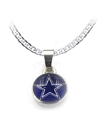 Dallas Cowboys 20 Fan Necklace Silver Mens Womens And Pendant