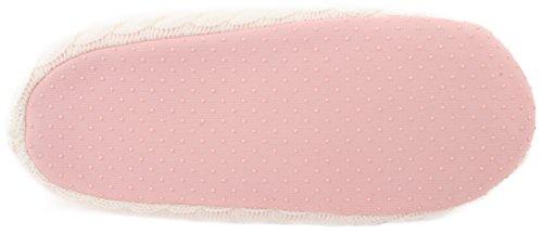 Enimay Slippers Slip Women's White on Pink Ballerina Slippers House Off Slip Anti Indoors Fleece Hn6H0rwXqF