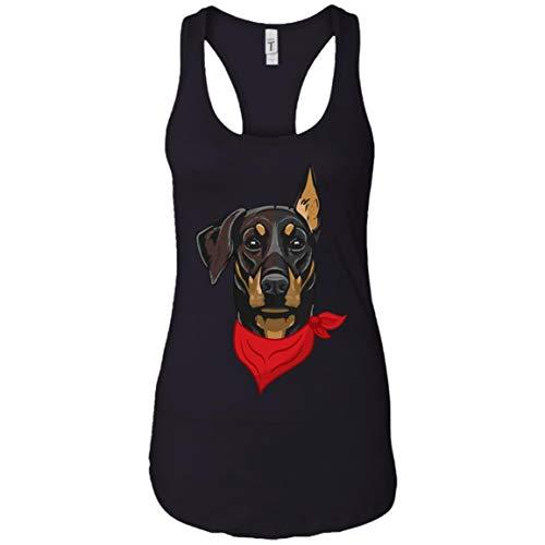 Doberman Pinscher Red Blue Bandana Wear Dog Lover Gift Shirt - Tank Top