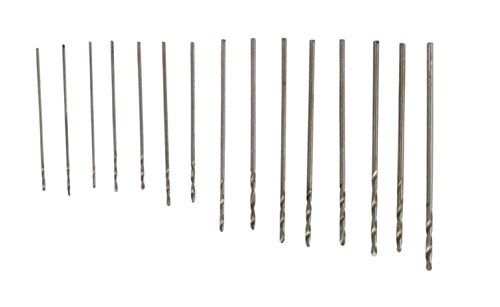 SE 82615MD High Speed Steel Drill Bit Set, 0.3 to 1 mm (15 PC.) (Jewelers Casting Sand)