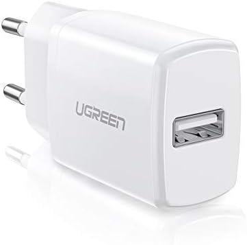 UGREEN Cargador USB 5V 2.1A Cargador Rápido10W Enchufe USB de Pared para iPhone 6, 5 SE, Samsung S8, Huawei P20 Lite, xiaomi, Levono, HTC, MP3, Stick ...