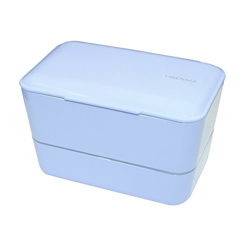 TAKENAKA Bento Box Expanded Double Lunch Box - Serenity Blue Color