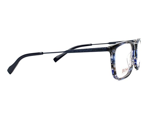 b2f68a02b71 ... Hugo Boss - Montures de lunettes - Homme Bleu marmor stil blau - matt  blau 53