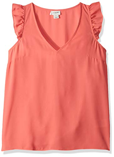 J.Crew Mercantile Women's Sleeveless Ruffle Top, Coral for sale  Delivered anywhere in USA
