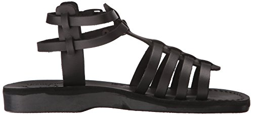 Gladiator Damen Jerusalem Black für Sandals von Leah 7HvZ7x