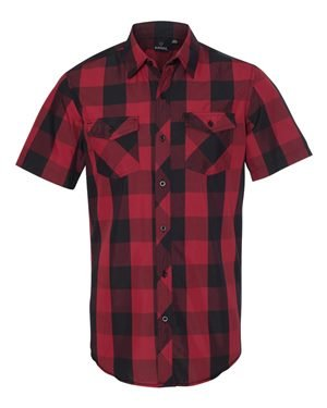 Burnside Mens Buffalo Plaid Woven Shirt M RED/ BLACK