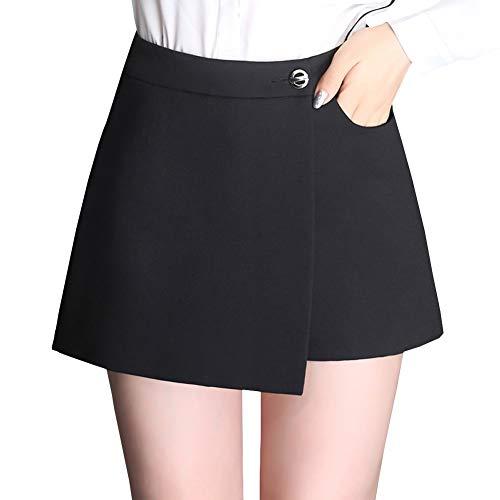 DISSA FS9893 Jupe Club Mini Short Grande Taille Ajoure Noir