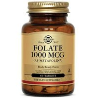 Folate (as Metafolin), 1000 mcg, 60 Tabs by Solgar (Pack of 4) by Solgar