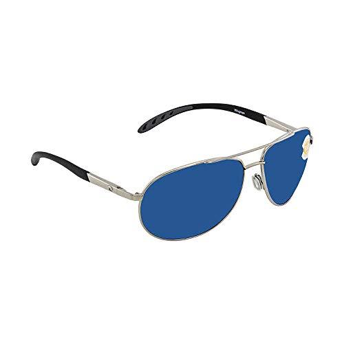 Costa Del Mar Wingman Sunglasses, Palladium Silver/Blue Mirror 580 Plastic Lens (Costa Del Mar Palladium)