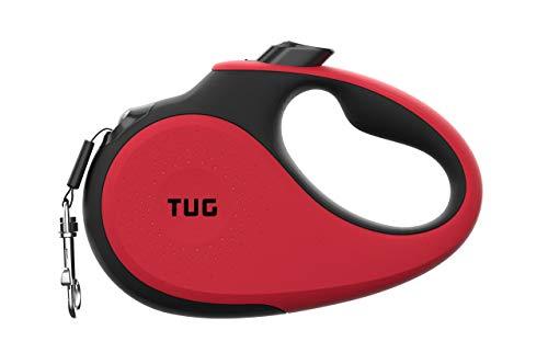 correa retractil para pasear perros TUG 360° rojo tiny