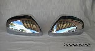 Door Wing Mirror Cover Chrome Finish Pair Left /& Right