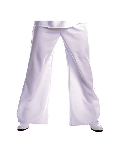 Saturday Night Fever Plus Size Costumes (Underwraps Costumes Men's Plus-Size Bell Bottom Pant, White, XX-Large)