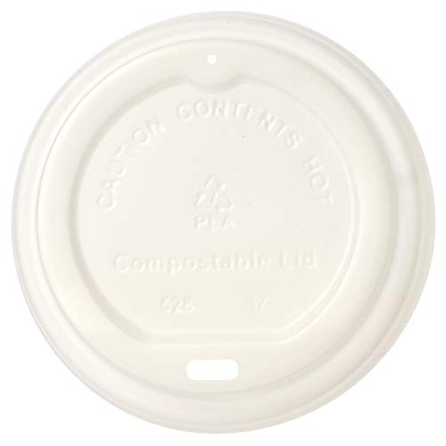 AmazonBasics Compostable PLA Hot Cup Lid for 10 oz -20 oz cup, 1,000-Count