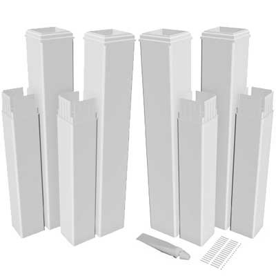 Vinyl Pergola Kits - New England Arbors VA80350 Pergola Extension Kit (4 Pack) Arbors, White