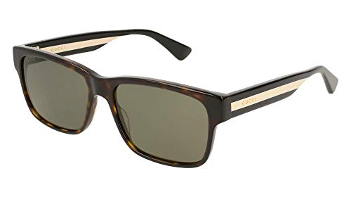 Gucci GG0340S Sunglasses 008 Havana/Multicolor / Green Lens 58 mm ()