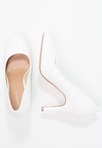 de de de Charol Charol EN Elegante Fiesta Anna Tacón de o de Field Tacones Trabajo de Elegantes Nude de Tacones Mujer Gris Zapatos Zapatos Mujer Blanco o Mujer Blanco con Negro de Vharol 6ffHEnqw