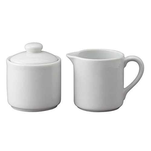HIC Harold Import Co. Sugar and Creamer Set for Coffee and Tea YK-27W-HIC