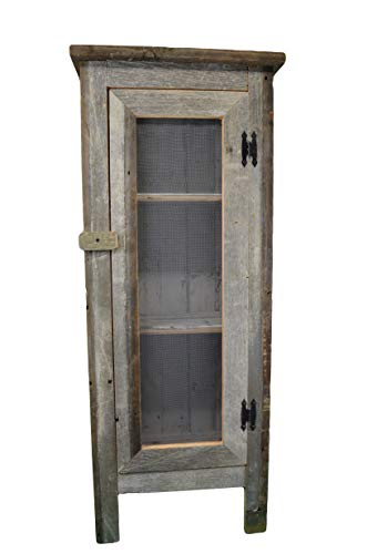 Amish Wares, Large Screen Front Cabinet- 4 Feet Tall. Solid Structure Is Handcrafted Out of Aged Wood Barn Siding. Barnwood Color May Vary Upon Availability.