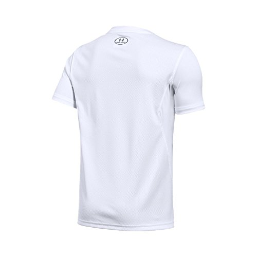 Under Armour Kids' Challenger Training T-Shirt,White (100)/Graphite, Youth X-Large