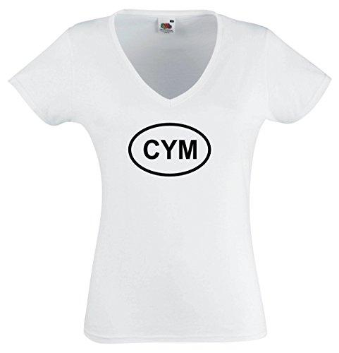 Price comparison product image Black Dragon - T - Shirt woman V - Tee white - Wales CYM - XL - JDM / Die cut