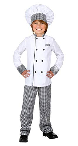 COSKING Cook Costume for Kids, Deluxe Children Halloween Chef Cosplay Outfit (Tag Size-M)