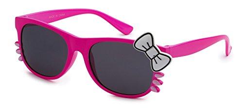 Eason Eyewear Girl's Hello Kitty Styled Sunglasses 48 mm Hot Pink Hello - Hello Glasses Sun Kitty