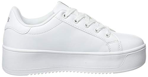 Action Sneakers Pu Mtng Blanco donna White 69391 Low C19667 da 6qUfxY