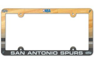 WinCraft NBA San Antonio Spurs Full Color License Plate Frame, Team Color, One Size by WinCraft