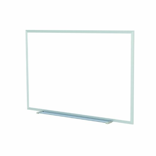 Non Magnetic Aluminum Markerboard - Ghent 48.5 x 72.5 Inches Aluminum Frame Non-Magnetic Whiteboard w/ 1 Marker and Eraser - Made in U.S.A.