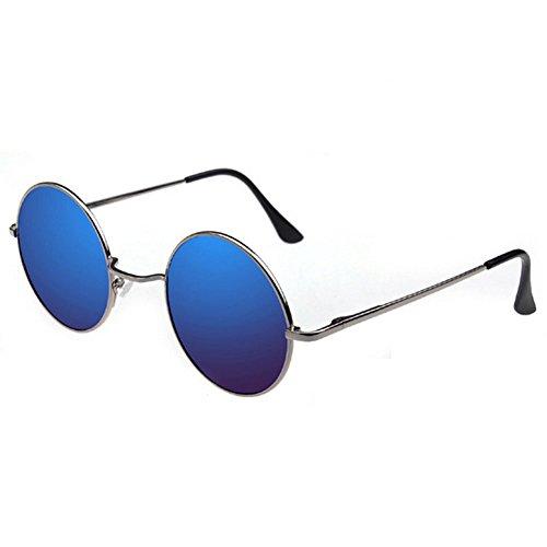 60 de los Lentes años estilo hippie de Celestientes Gafas de Montura sol Plata 06CxwqRAB