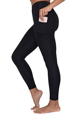 26098e4604a152 Yogalicious High Waist Ultra Soft Ankle Length Leggings with Pockets -  Black - Medium