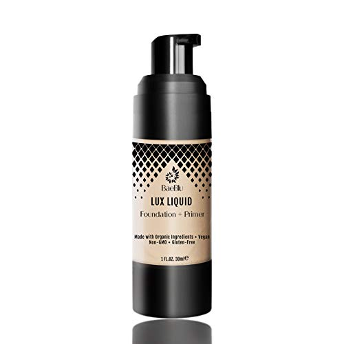 BaeBlu Organic Aloe-Based LUX Liquid Foundation, Natural Vegan Gluten-Free Made in USA, Vanilla