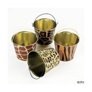 (12 Mini Safari Wild Animal Print Tin)