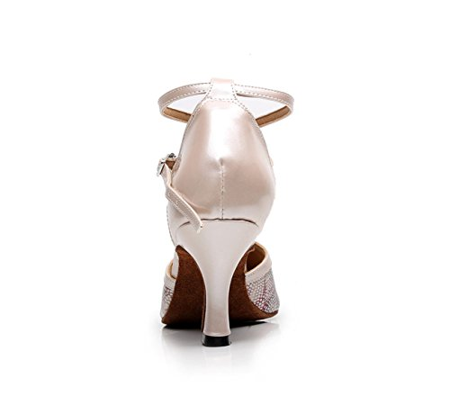 Tacones Salsa Our33 Modern Tango Jazz Mujer JSHOE Sandals Altos 5cm Zapatos 5 UK2 Dance Samba Chacha Baile EU32 De Beige heeled7 Latino Para xwx6BYqv