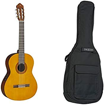 Yamaha CX40 - Guitarra clásica electrica + funda: Amazon.es ...